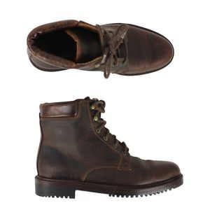 Cole Haan Leather Ankle High Top Hiking Boots